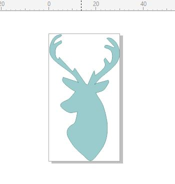 Deer head side profile  cards and scrapbooks and Invitations pk